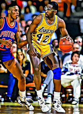 James Worthy Poster by Florian Rodarte