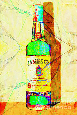 Jameson Irish Whiskey 20140916 Painterly V2 Poster by Wingsdomain Art and Photography