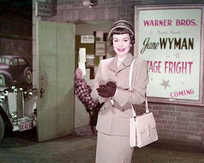 Jane Wyman In Stage Fright  Poster by Silver Screen