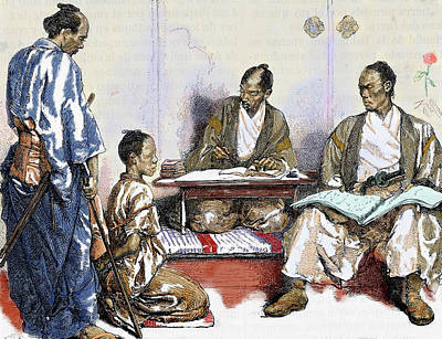 Japan 19th Century Judge Drawing Poster by Prisma Archivo