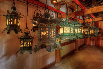 Japan, Kyoto Interior Of Shinto Shrine Poster by Jaynes Gallery
