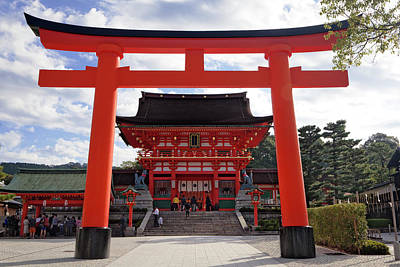 Japan, Kyoto Torii Gate In Front Poster