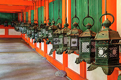 Japan, Nara Hanging Lanterns At Kasuga Poster by Jaynes Gallery