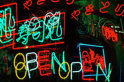 Japan, Osaka Neon Signs For Sale Poster by Jaynes Gallery