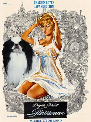 Japanese Chin Art - Una Parisienne Movie Poster Poster