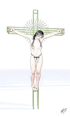 Spiritual Christ Poster by Quim Abella