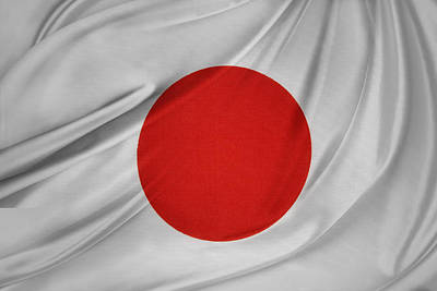 Japanese Flag Poster by Les Cunliffe
