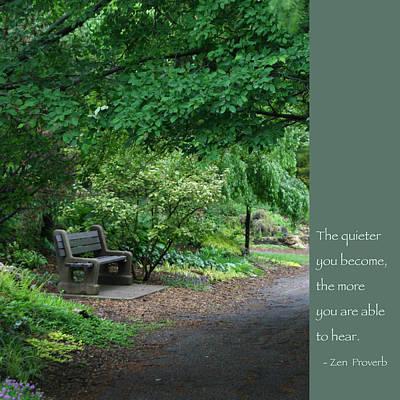 Japanese Garden Bench  Poster by Heidi Hermes