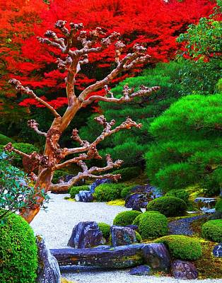 Poster featuring the photograph Japanese Garden by Julia Ivanovna Willhite