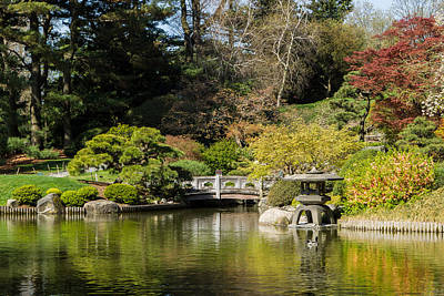 Japanese Hill-and-pond Garden 2 Poster by David Hahn