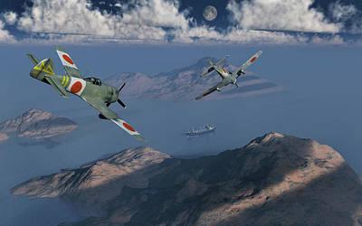 Japanese Nakajima Ki-84 Fighter Planes Poster by Mark Stevenson