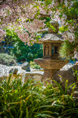 Japanese Shrine In The Garden Poster