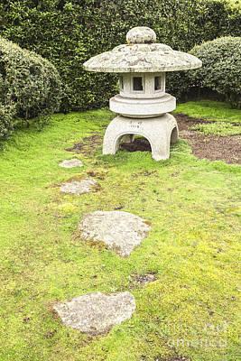 Japanese Stone Lantern Hamilton Gardens New Zealand Poster by Colin and Linda McKie
