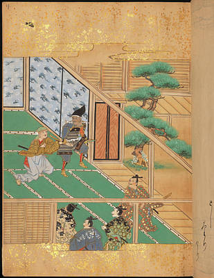 Japanese Warriors In A Room Poster by British Library