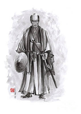 Japanese Warriors Painting. Poster by Mariusz Szmerdt