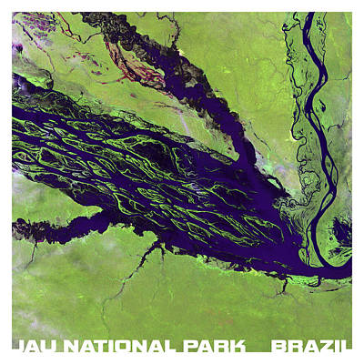 Jau National Park Brazil From Above Poster by Theo Westlake