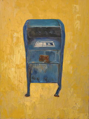 Poster featuring the painting Jaunty Mailbox by Lindsay Frost