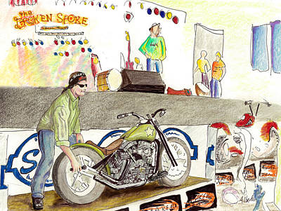 Jay Allen At The Broken Spoke Saloon Poster by Albert Puskaric