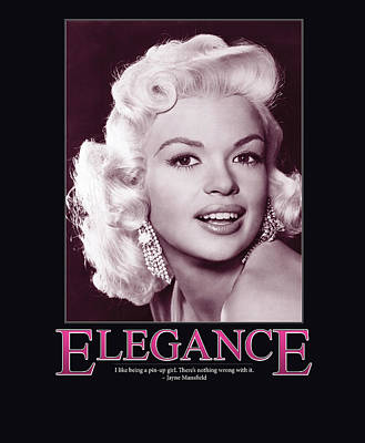 Jayne Mansfield Elegance Poster by Retro Images Archive