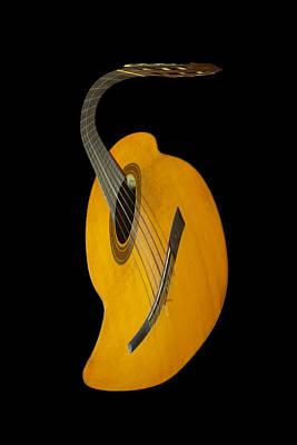 Jazz Guitar Poster by Debra and Dave Vanderlaan