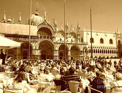 Jazz In Piazza San Marco Poster by Ramona Matei