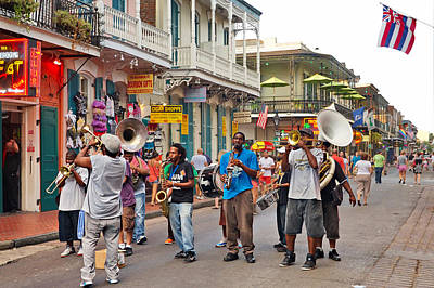 Jazz It Up On The New Orleans Summer Streets Poster