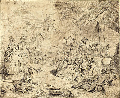 Jean-baptiste Joseph Pater, French 1695-1736 Poster