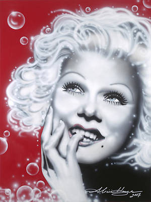 Jean Harlow Poster by Alicia Hayes