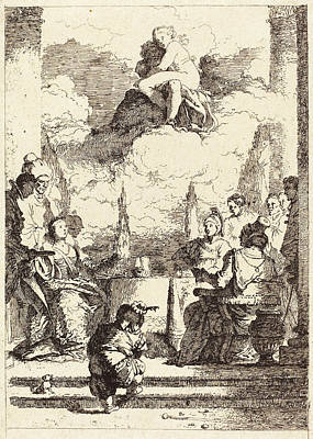 Jean-honoré Fragonard After Giovanni Battista Tiepolo Poster by Quint Lox