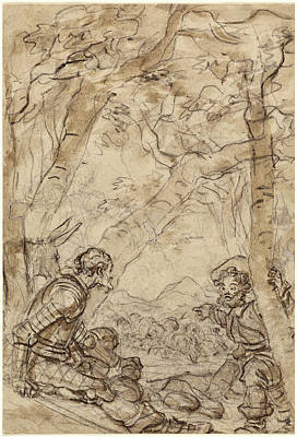 Jean-honoré Fragonard, Don Quixote And Sancho Panza Poster
