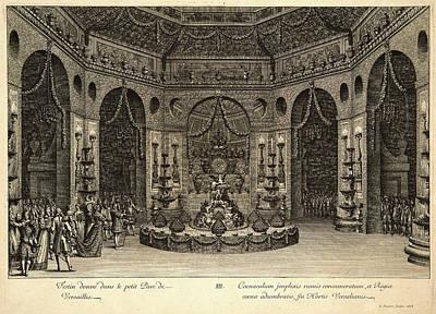 Jean Le Pautre French, 1618-1682. Festin Donne Dans Le Poster by Litz Collection