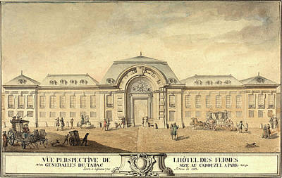 Jean-michel Moreau, French 1741-1814, View Of The Hôtel Poster by Litz Collection