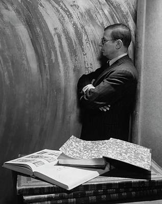 Jean-paul Sartre By Books Poster by Cecil Beaton
