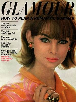 Jean Shrimpton On The Cover Of Glamour Poster by David Bailey