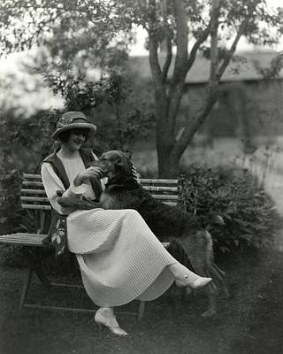 Jeanne Eagels Sitting Down On A Park Bench Poster