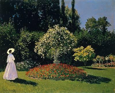 Jeanne-marguerite Lecadre In The Garden Sainte-adresse Poster