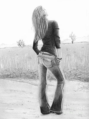 Poster featuring the drawing Jeans by Denise Deiloh