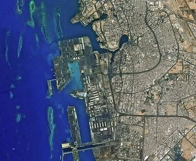 Jeddah Seaport Poster by Kari/european Space Agency