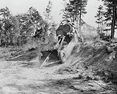 Jeep Pulling A 37mm Anti-tank Gun Poster by Stocktrek Images