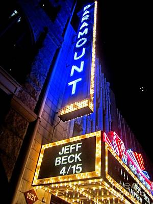 Poster featuring the photograph Jeff Beck At The Paramount by Fiona Kennard