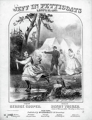 Jeff In Petticoats, C1865 Poster by Granger