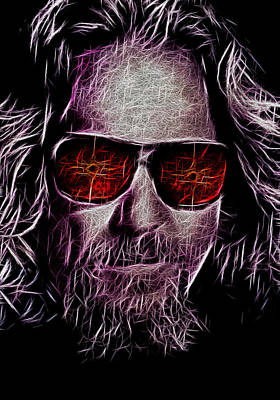 Jeff Lebowski - The Dude Poster by Bill Cannon