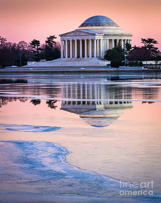 Jefferson Memorial In Winter Poster by Inge Johnsson