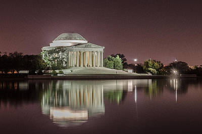 Jefferson Memorial Poster by Ryan Johnson