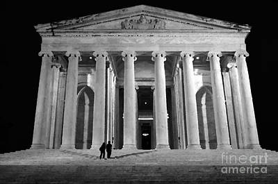Jefferson Monument At Night Poster by Lane Erickson