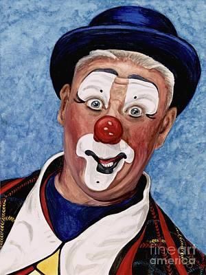 Watercolor Clown #11 Jeffrey Potts  Poster by Patty Vicknair