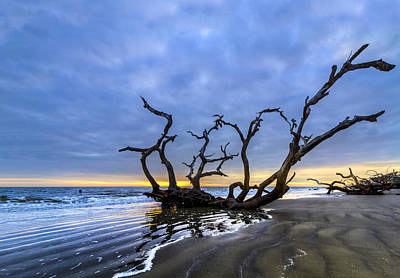 Jekyll Island Seascape Poster by Debra and Dave Vanderlaan