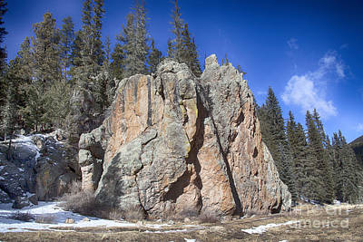 Jemez Mountain-rocks New Mexico  Poster by Douglas Barnard