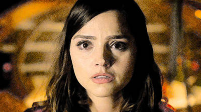 Poster featuring the digital art Jenna-louise Coleman - The Doctor's Companion by David Blank