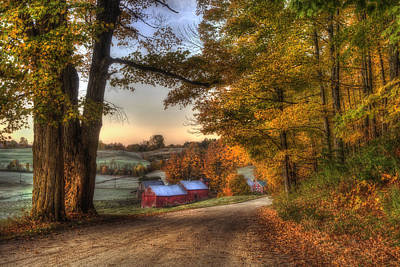 Jenne Farm - Autumn In Vermont Poster by Joann Vitali